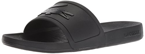 Lacoste Women's Fraisier Slide Sandal, Black Synthetic