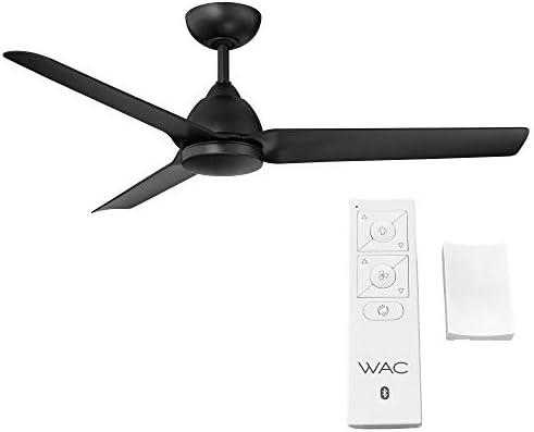 Mocha Indoor/Outdoor 3-Blade Smart Compatible Ceiling Fan 54in Matte Black