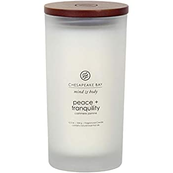 Chesapeake Bay Candle Mind & Body Large Scented Candle, Peace + Tranquility (Cashmere Jasmine)