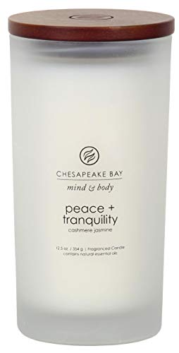 (Chesapeake Bay Candle Scented Candle, Peace + Tranquility (Cashmere Jasmine), Large)