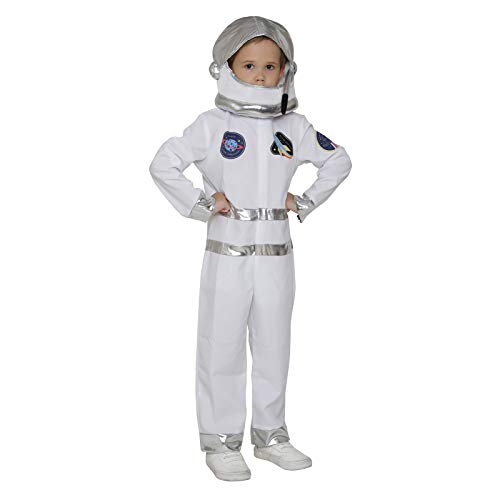 Kids Mailman Costume (Kids Astronaut Costume Jumpsuit with Helmet Halloween NASA Role Play (Cadet 4-6)
