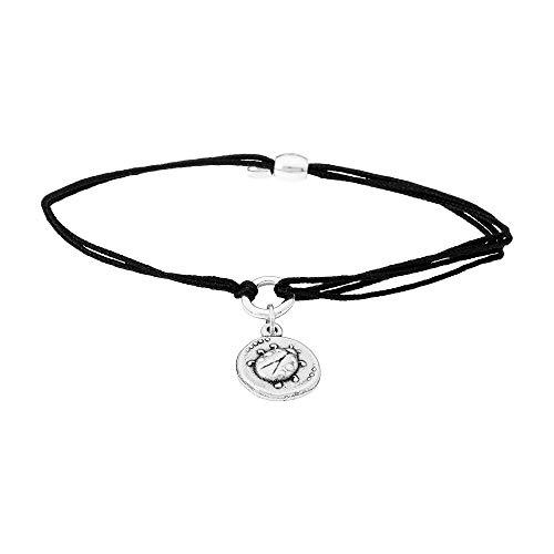 Alex and Ani Women's Kindred Cord Ladybug Bracelet Rafaelian Silver One Size