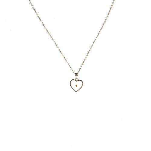 Dicksons The Mustard Seed Matthew 17:20 Heart Silver Plated Pendant Necklace - 18 inch Chain]()