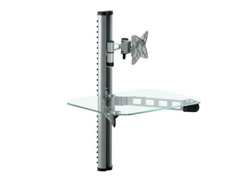"Mount-It! TV Wall Mount With Shelf for 32"" TVs and AV Receiv"