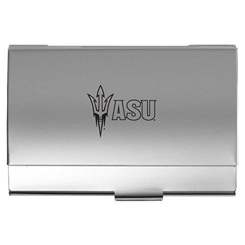 (ASU Sun Devils - Two-Tone Business Card Holder - Silver)
