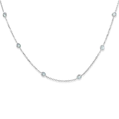 1 1/2 Ctw Diamond By The Yard Tennis Necklace 14K White Gold 18'' by P3 POMPEII3 (Image #6)