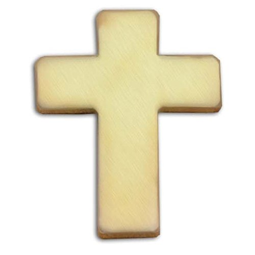 US Flag Store Christian Cross Gold Finish Lapel ()