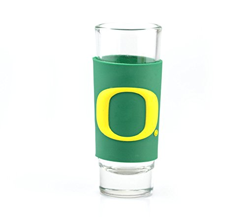 OREGON DUCKS 2oz. NCAA PVC WRAP COLLECTOR (SHOT) GLASS