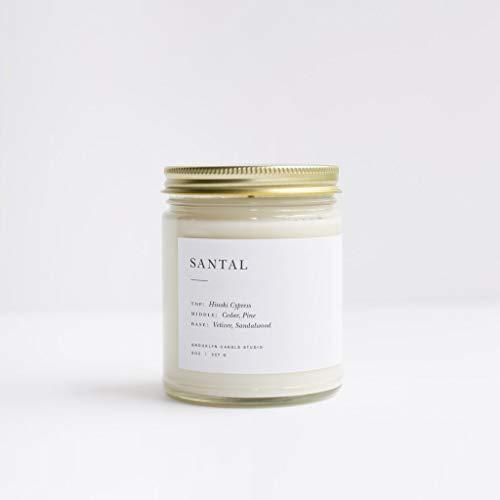 Brooklyn Candle Studio, Candle Jar Minimalist Santal, 8ounce