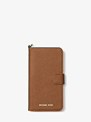 online store 6924e b28a5 Michael Kors - Folio Case for Apple iPhone 7 - Luggage/Leather