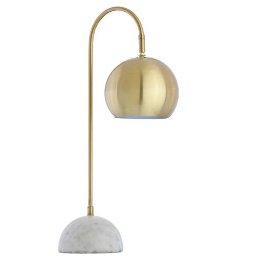 JONATHAN Y JYL6000A Stephen 23.5 Metal Marble Table Lamp, Brass Gold White
