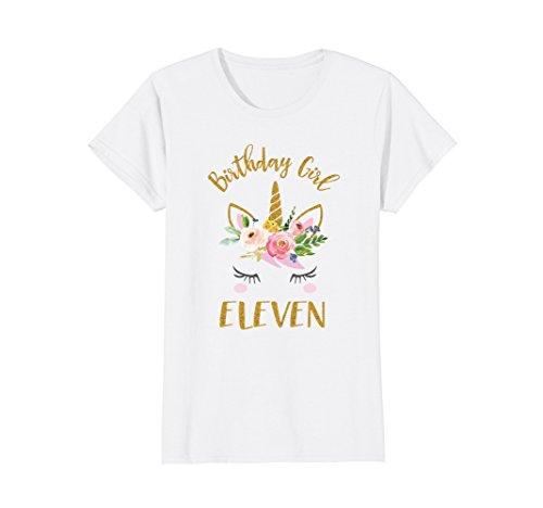 Unicorn 11 Year Old Birthday Shirt, 11 Birthday