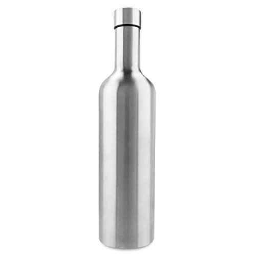 - Vinotrek Wine Growler - Brushed Stainless Steel Double Wall Insulated Growler Bottle for Wine to Go