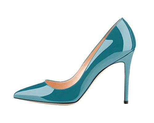 Taille femmes cuir officiel verni aiguilles talons gros chaussures
