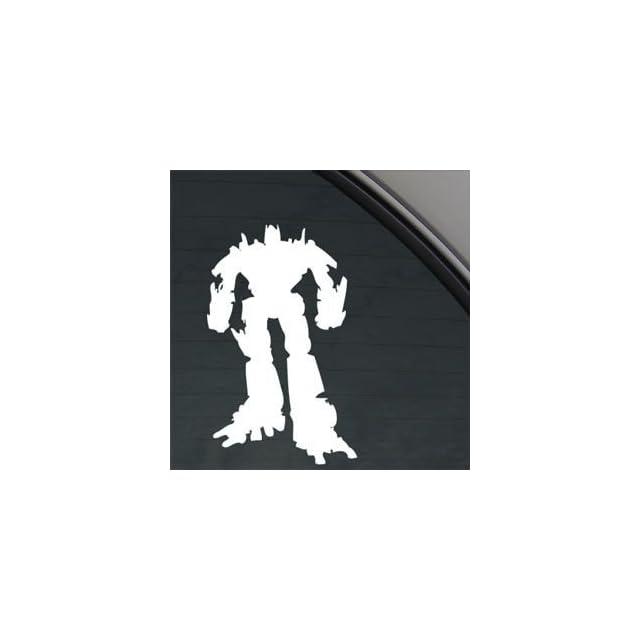 Transformers White Sticker Decal Optimus Prime White Car Window Wall Macbook Notebook Laptop Sticker Decal