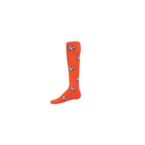 Red Lion Socks サッカーボール柄アスレチックソックス B008EMEHH8 Medium|オレンジ オレンジ Medium
