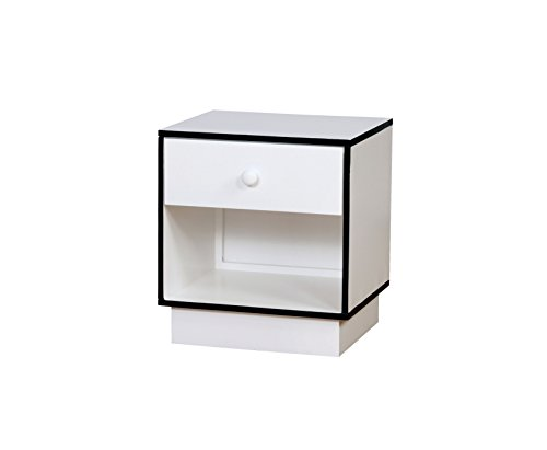 HOMES: Inside + Out IDF-7852BL-N Wexler Nightstand Childrens, Blue/White by HOMES: Inside + Out