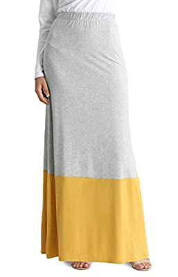 Womens Long Maxi Skirt Reg and Plus Size High Waisted Flowy Maxi Skirt - USA