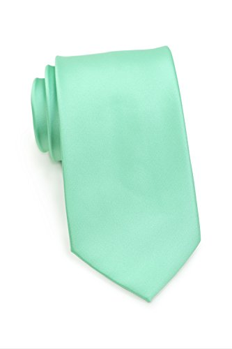 Bows-N-Ties Men's Necktie Solid Color Microfiber Satin Tie 3.25 Inches (Fresh Mint) ()