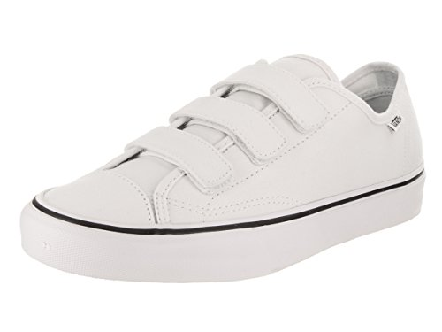 Vans Unisex Style 23 V (Canvas) True/White Skate Shoe 8.5 Men US/10 Women US (Vans Strap Shoes)