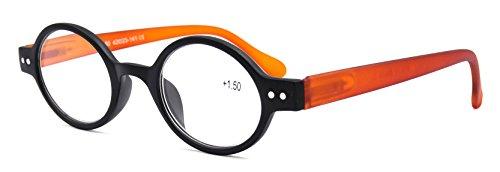 Vintage Oval Round Black Reading Glasses Readers Spring Hinge Eyeglass +1.00 Strength (1.00, - Eyeglass Frames Potter Harry