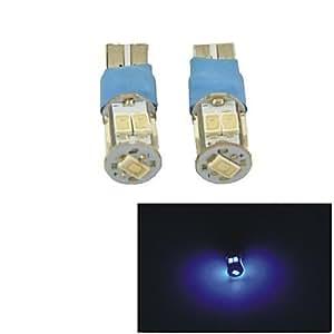 DK Carking? T10-5630-9SMD Flash Car LED Rome Lamp Clearance Lamp-(2PCS)Blue Light