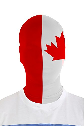 Red And White Morphsuit (Morphsuits Morphmask Flag Canada, White/Red, One Size)