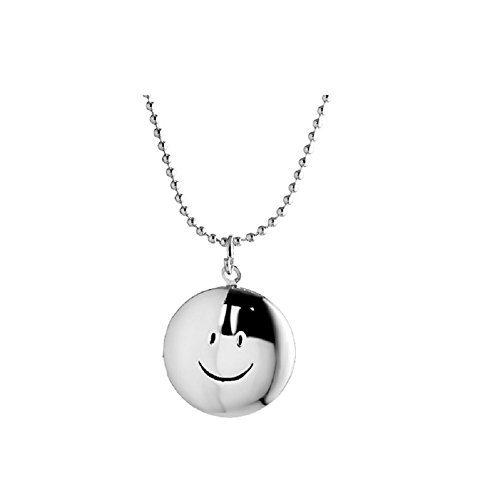 Christmas Gifts Locket Necklace that Holds Pictures for Women Girl Children Men Round Smile Face Lockets Pendant - Face Round Girls