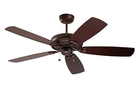 Emerson Ceiling Fans CF4501VNB Crown Select Indoor Ceiling Fan, Blades Sold Separately, Light Kit Adaptable, Venetian Bronze - Emerson Indoor Fans