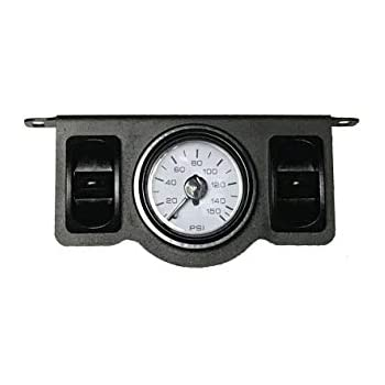 airmaxxx Dual Needle Air Gauge Black 200psi