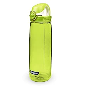 Nalgene Tritan On The Fly Water Bottle, Green with Green/White, 24Oz