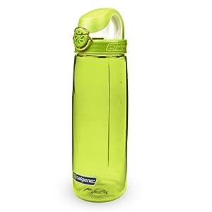 Nalgene Tritan On The Fly Water Bottle, Green with Green/White, 24Oz