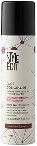 Medium Brown Root Concealer - Root Touch Up Spray For Medium Brown Hair Color - Temporary Hair Color Spray Instantly Covers Grey Hair, Pack of 1