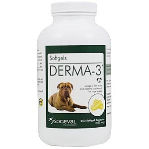 Vitality Systems / Sogeval Labs Derma-3 Softgels For Large Breeds, 250 Capsules ()
