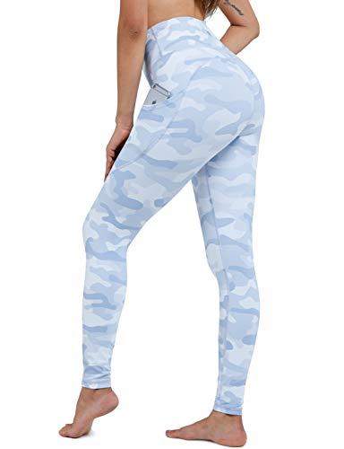 (G Gradual camo Leggings for Women Yoga Pants Workout White Leggings Running Fitness Active Athletic Leggings with Pockets (White Camo, Medium))