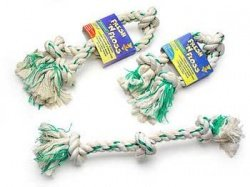 Booda Fresh N Floss 2-Knot Rope Bone Spearmint Extra Small