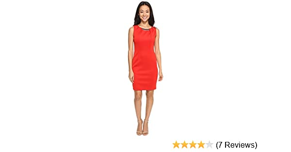 Jessica Simpson Womens Embellished Sleeveless Scuba Dress