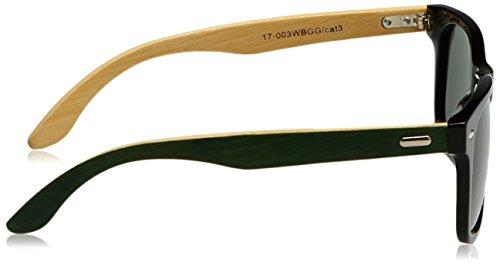 Unisex de Bambú Negro 54 Gafas Verde Waymix Sol HÄRVIST UqwnTx7PP