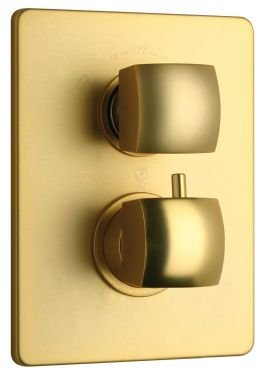 La Toscana 89OK690TH Lady Thermostatic Shower Valve, Satin Gold by La Toscana
