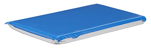 "ECR4Kids Everyday 3 Fold Daycare Rest Mat, Blue and Grey (2"" Thick)"