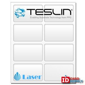 "Teslin Synthetic Paper - 8.5"" x 11"" Perforated 8-Up Laser Sheet"