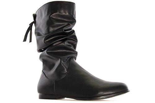 1744398a31498f Andres Machado Damen Stiefel Schwarz Schuhe in Übergrößen - igfh ...
