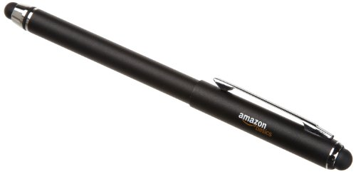 AmazonBasics Capacitive Stylus Pen for Touchscreen Devices Including Kindle Fire, Apple iPad, Samsung Galaxy Tab - Black