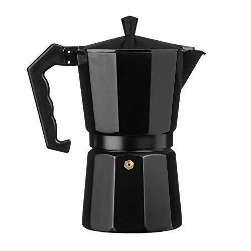 Ernesto Espressokocher, Aluminium, für 9 Tassen, 3 Jahre, Schwarz für 9 Tassen