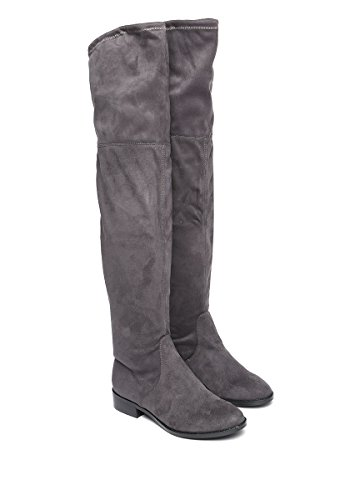 FootwearOdina 5 Grey 37 7 Grigio Overknee Donna Colore 5 Madden Taglia EU Stivali Steve UK 5gqUUC