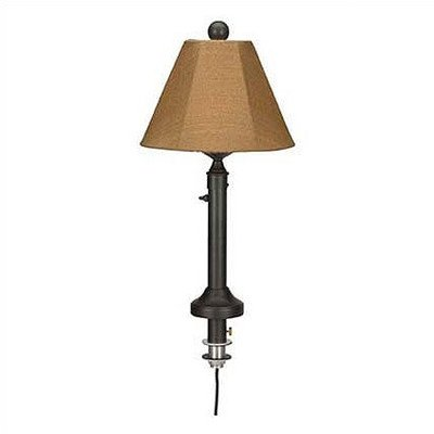 Catalina Umbrella Table Outdoor Lamp with Sunbrella Shade Lamp Finish: Bronze, Lamp Shade: Spa