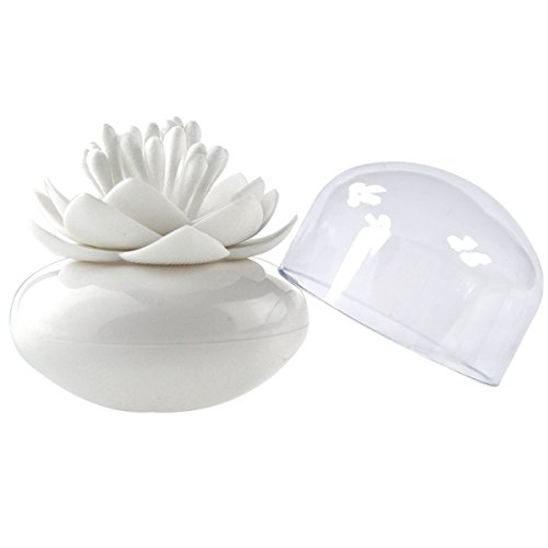 MelonBoat Lotus Cotton Swab Holder, Small Q-tips Toothpicks