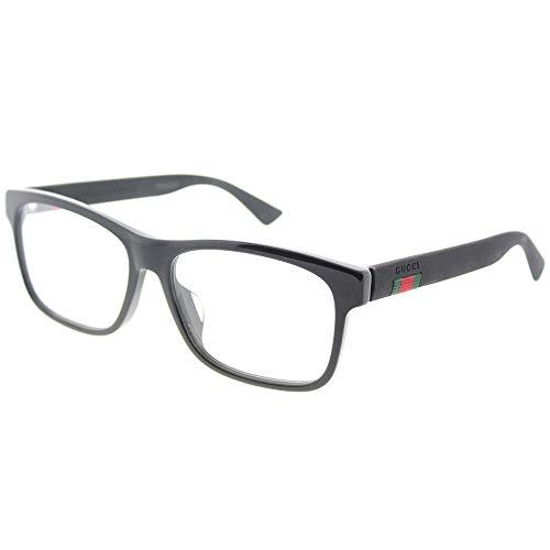 Gucci GG 0176O 001 Black Plastic Rectangle Eyeglasses 56mm