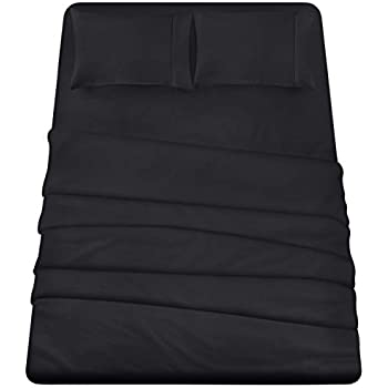Utopia Bedding 4-Piece Full Bed Sheets Set (Black)