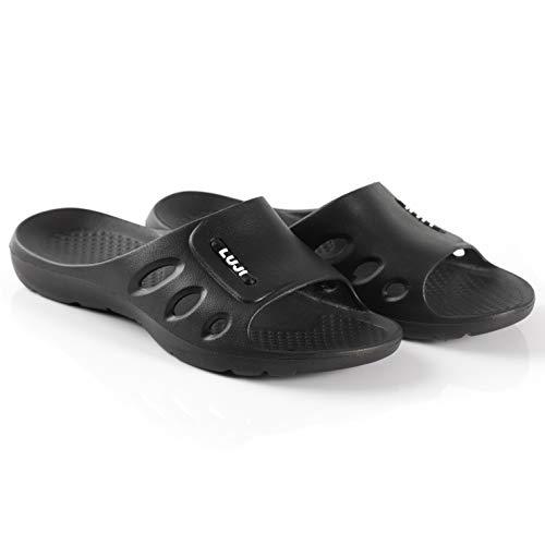 LUJI Men's Slide Sandal Shower Slipper Pool Slip-on by LUJI